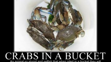 Crabs in a bucket? – Saboteurs!