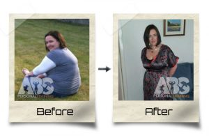 The Abs Gym - Before & After Photo - Overweight woman lost a lot of weight