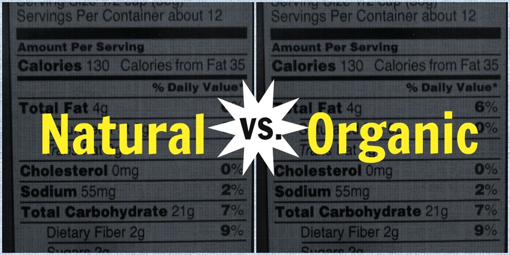 Natural VS Organic food label portraying no differences at all