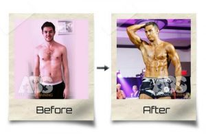 The Abs Gym - Before & After Photo - Man Gained Muscle