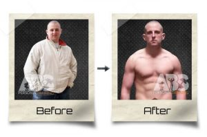 The Abs Gym - Before After Photo - Overweight man lost fat and became a personal trainer