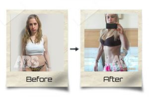 The Abs Gym - Before After Photo - Woman got leaner and stronger